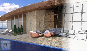 Planung Hotel Terrasse